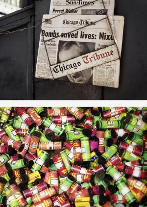 Top: A Vivian Maier color photograph from 1973 Bottom: Maier's undeveloped film