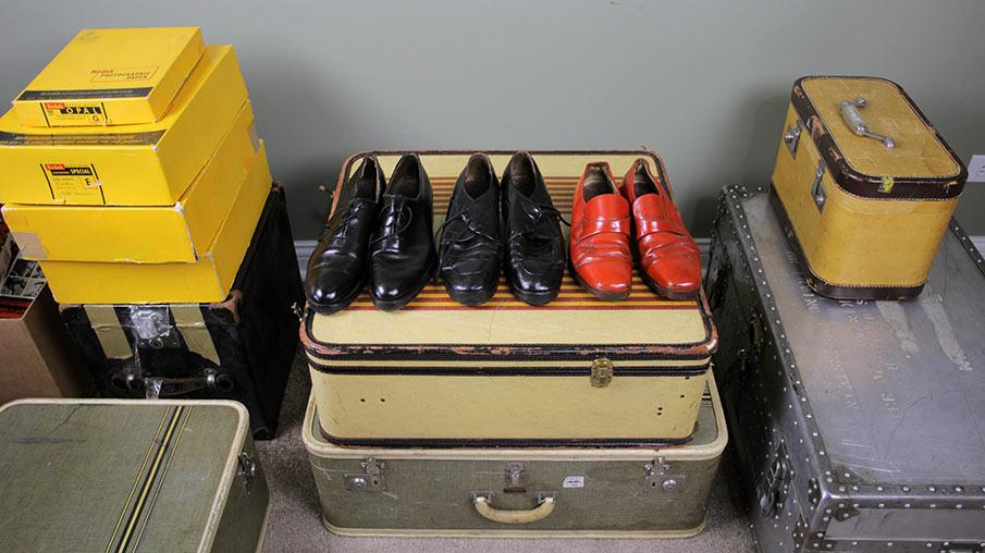 Suitcases and shoes belonging to Maier