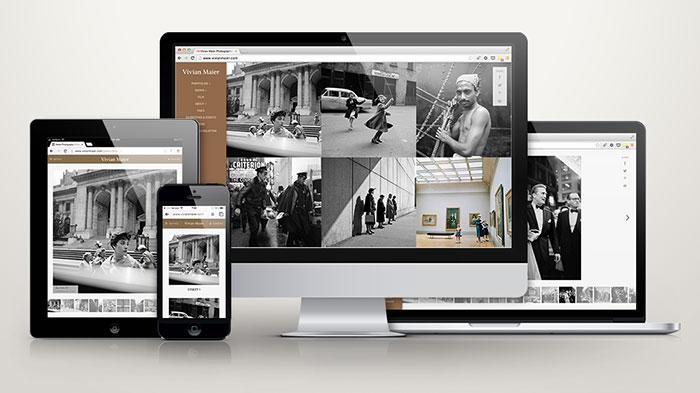 The new responsive Vivian Maier website